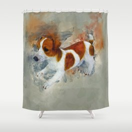 Jack Russell Shower Curtain