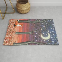 fox & fireflies Rug
