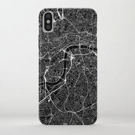London Black Map iPhone Case