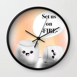 Masochist Marshmallows Wall Clock