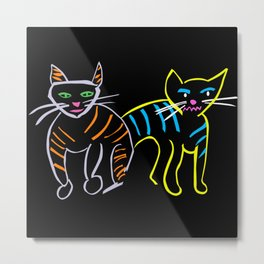 Cats in Spring Metal Print