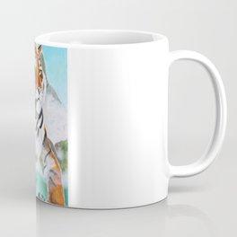 Quiet Tiger - big cat - animal - by LiliFlore Coffee Mug