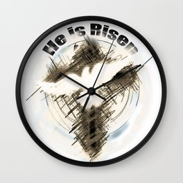The Cross of Jesus Risen Wall Clock