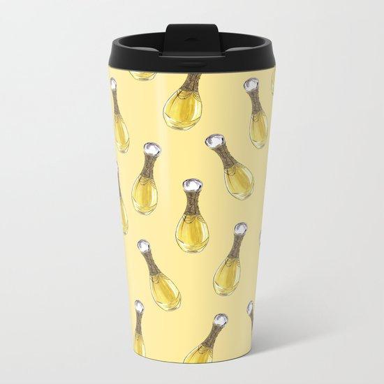 J'adore on Yellow Metal Travel Mug