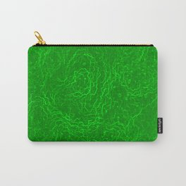 Neon Green Alien DNA Plasma Swirl Carry-All Pouch