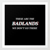 Halsey 3D Glitch Badlands Quote Art Print