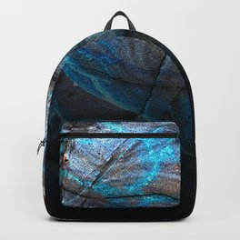 Deep Blue Marble - Ombre black Backpack