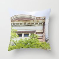 history Throw Pillows featuring History by Rachael