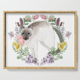 Pixie the Chocolate Siamese Cat Serving Tray