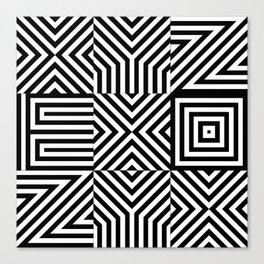 Typography xyz Canvas Print