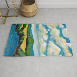Cooking Lake Landscape by Dennis Weber of ShreddyStudio Rug