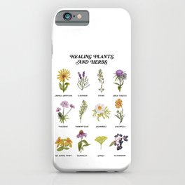 Healing Plants and Herbs iPhone Case