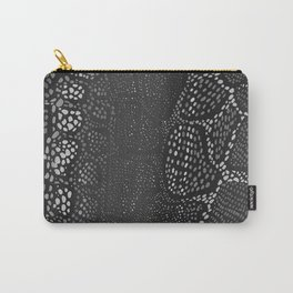 Black Snake Skin Carry-All Pouch
