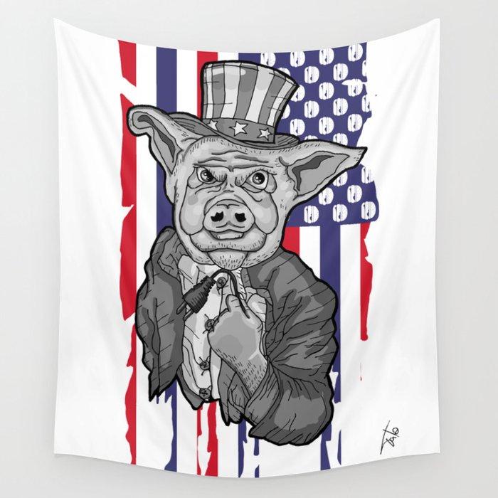 Pig Socket Wall Tapestry