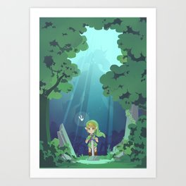 Master Sword and Monsters Art Print