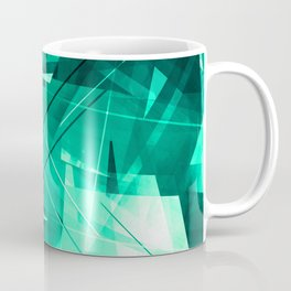 Mint Maze - Geometric Abstract Art Coffee Mug