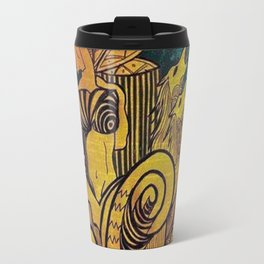 Drawing eye  a girl art Travel Mug