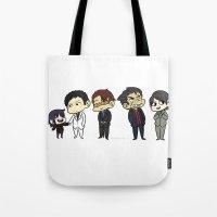 durarara Tote Bags featuring Awakusu lineup by charmaise
