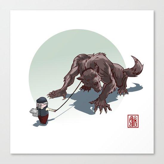 Kiki le petit loup Canvas Print