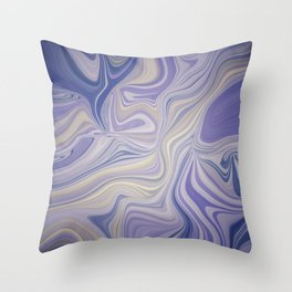 FOCUS amethyst purple with mauve & buttery yellow design Throw Pillow