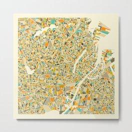 COPENHAGEN MAP Metal Print