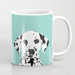 Dalmatian cute puppy dog black and white mint pastel gender neutral pet owner gifts love animals Coffee Mug