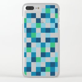 Colour Block #5 Clear iPhone Case