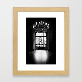 Gaudi in Barcelona Black and White Framed Art Print