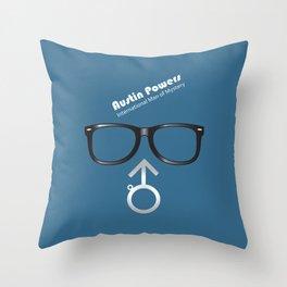 Austin Powers - Alternative Movie Poster Throw Pillow