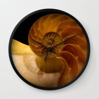 shell Wall Clocks featuring shell by littlesilversparks