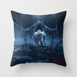 Planet of Doom Throw Pillow