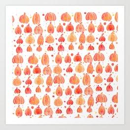 Festive Fall Pumpkins Art Print