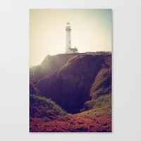 lighthouse Canvas Prints featuring Lighthouse by Yael Levey