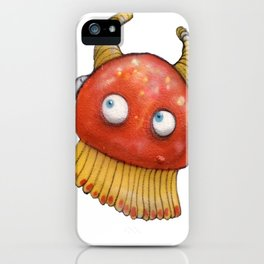 Graffiti. Red Jelly Fish iPhone Case