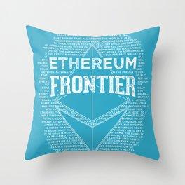 Ethereum Frontier (blue base) Throw Pillow