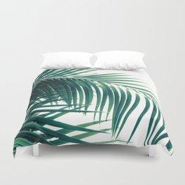 Palm Leaves Green Vibes #6 #tropical #decor #art #society6 Duvet Cover