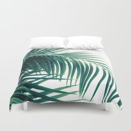 Palm Leaves Green Vibes #6 #tropical #decor #art #society6 Duvet Cover