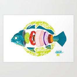 Cebiche! Simple is better! Art Print
