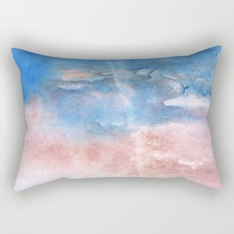 Corn flower blue vague watercolor Rectangular Pillow