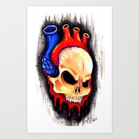 Skullheartedly  by Ted E. Art Print