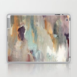 Gentle Beauty [4] - an elegant acrylic piece in deep purple, red, gold, and white Laptop & iPad Skin