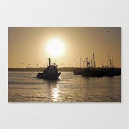 Morro Bay Fishing Trip Canvas Print