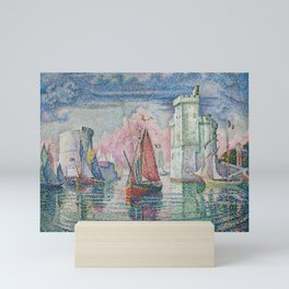 Entrance to the Port of La Rochelle Mini Art Print