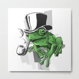 Elementary My Dear Frogson Metal Print