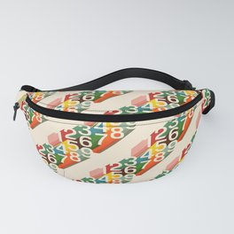 Retro Numbers Fanny Pack