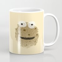 cookie monster Mugs featuring Cookie Monster by Sarinya  Withaya