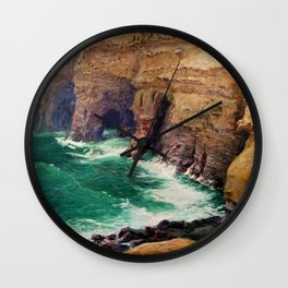 La Jolla Caves by Guy Rose Wall Clock