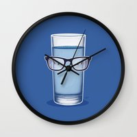 glasses Wall Clocks featuring Glasses by Nabhan Abdullatif