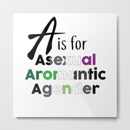 A is for Metal Print