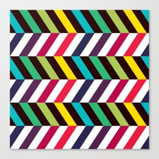 Colorful Zigzag Canvas Print